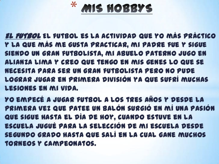 Mis hobbys
