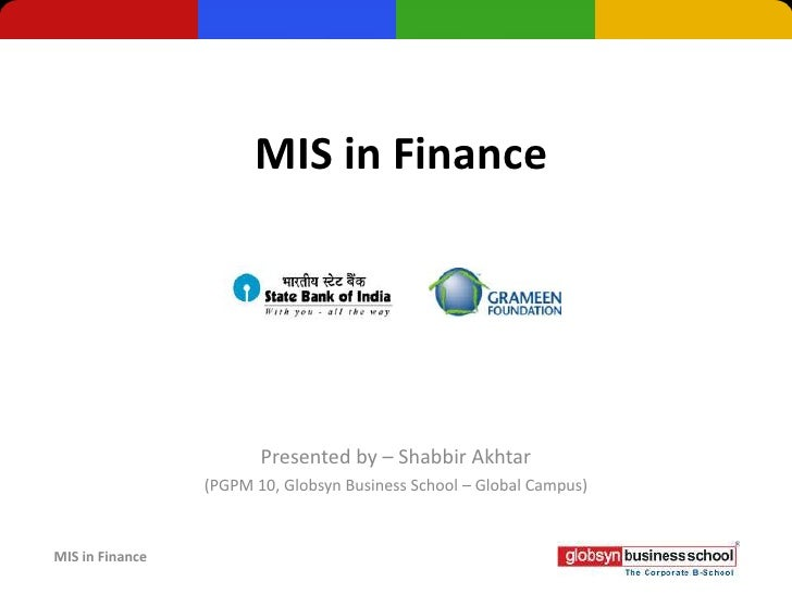 MIS in Finance (Management Information System)