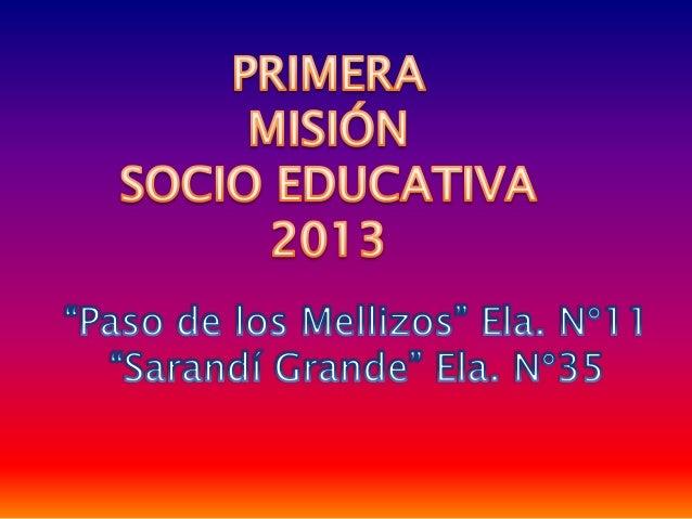 Misión socio educativa 1