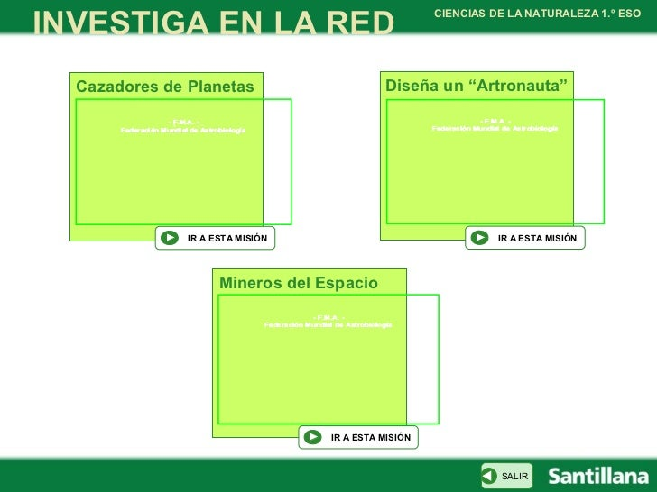 INVESTIGA EN LA RED                                                                                   CIENCIAS DE LA NATUR...