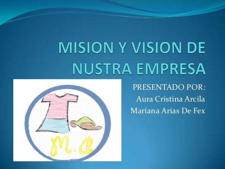 PRESENTADO POR: Aura Cristina ArcilaMariana Arias De Fex