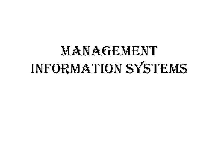 ManagementInformation Systems