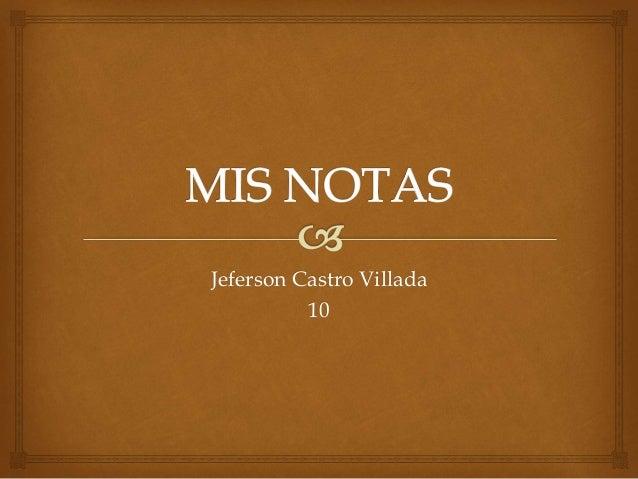 Jeferson Castro Villada 10