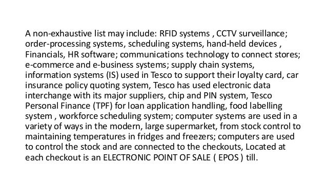 tesco information systems