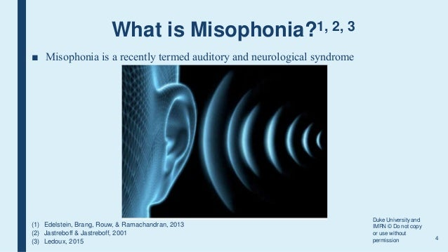 misophonia argument paper General information about the americans with disabilities act (ada), protections and requirements under the act, and suggested do's and don'ts.