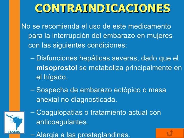uso de misoprostol en el segundo trimestre