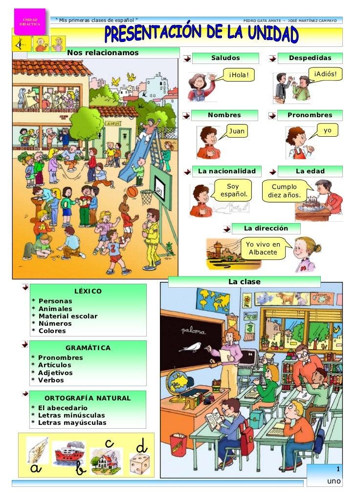 Mis primeras clases de español