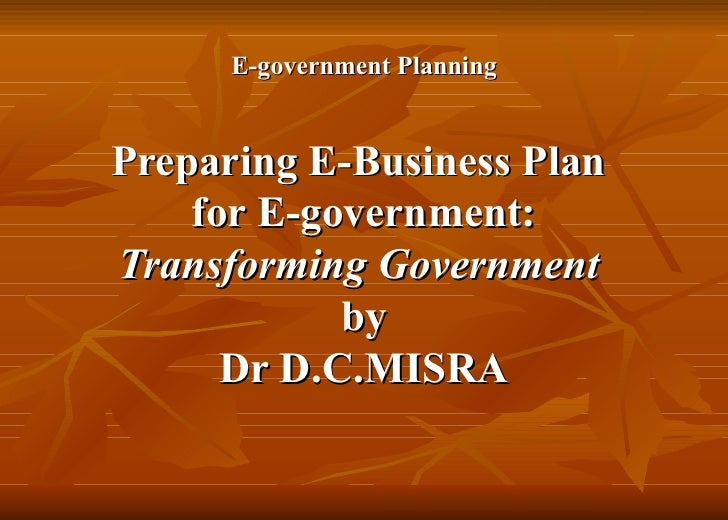 Government business plan