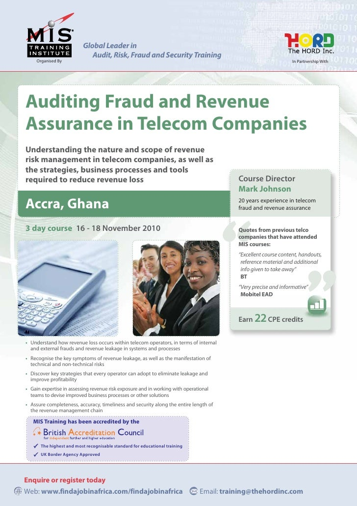 Global Leader in                              Audit, Risk, Fraud and Security Training      Organised By                  ...