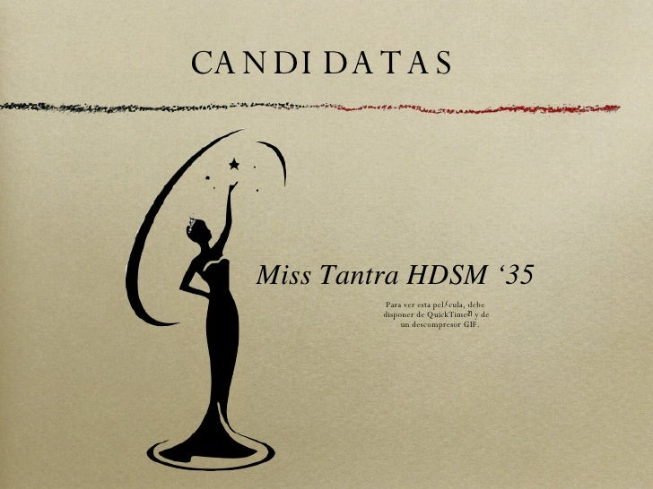 CANDIDATAS Miss Tantra HDSM '35