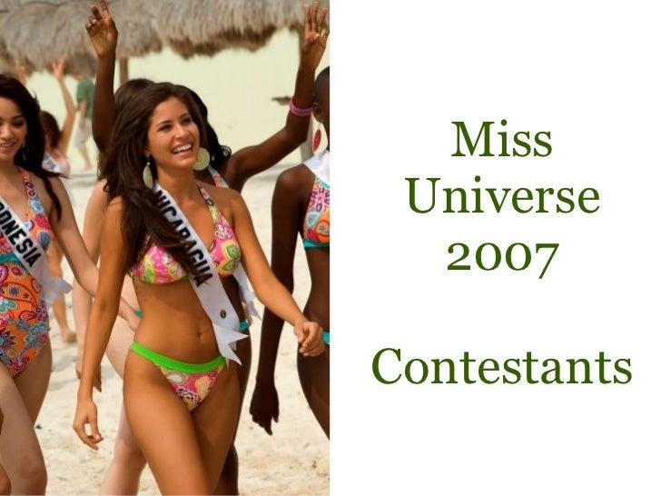 Miss Universe 2007 Contestants