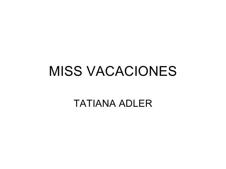 Miss Vacaciones
