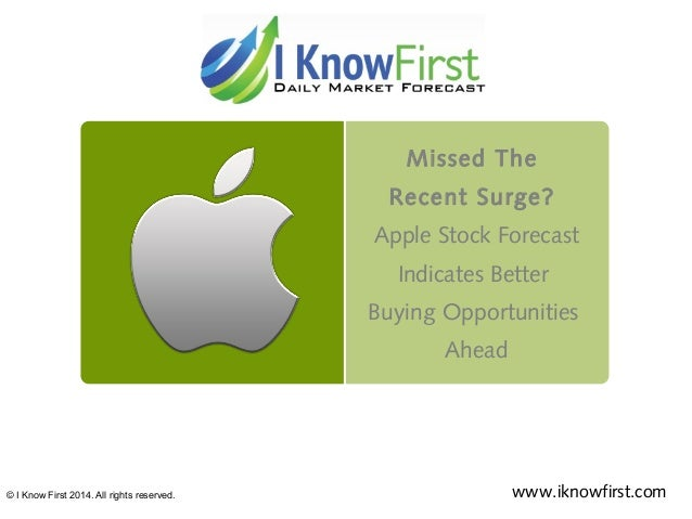 Missed The Recent Surge? Apple Stock Forecast Indicates Better Buying Opportunities Ahead © I Know First 2014. All rights ...