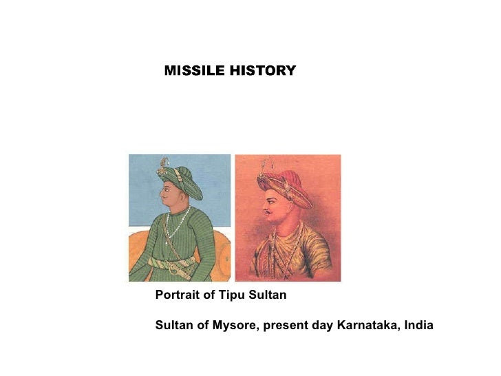 Portrait of Tipu Sultan  Sultan of Mysore, present day Karnataka, India