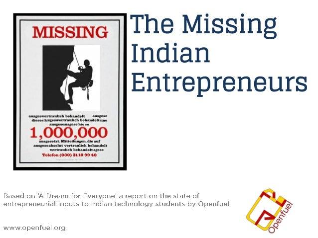Missing Indian Entrepreneurs
