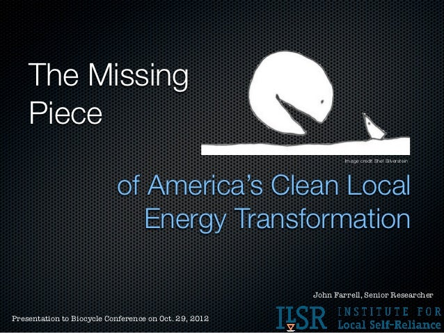 The Missing Piece in Clean Local Energy