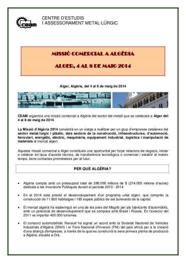 Missio comercial algeria maig 2014 ceam