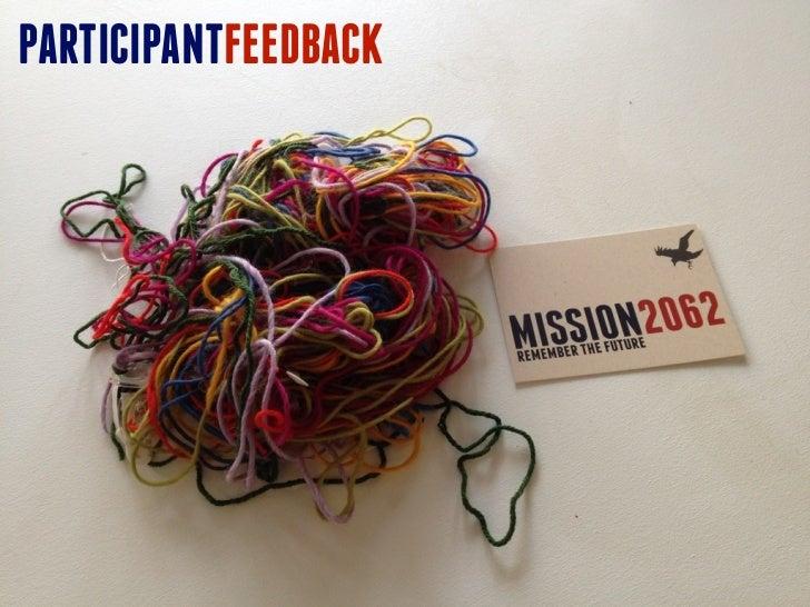 Mission2062 participant feedback