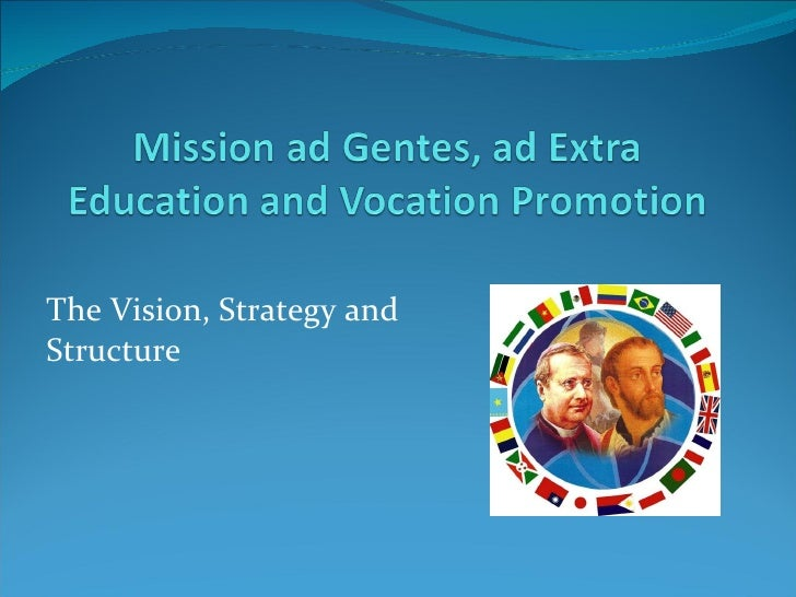Mission ad gentes education and vocation promotion