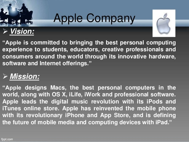Apple's Vision and Mission Statements