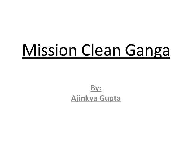 Mission clean ganga