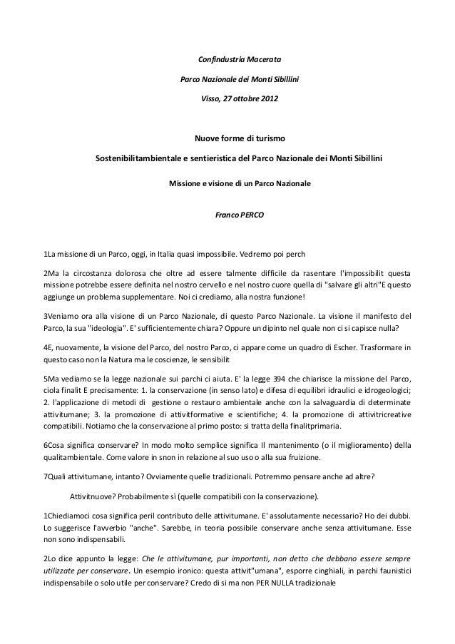 Confindustria Macerata                                          Parco Nazionale dei Monti Sibillini                       ...