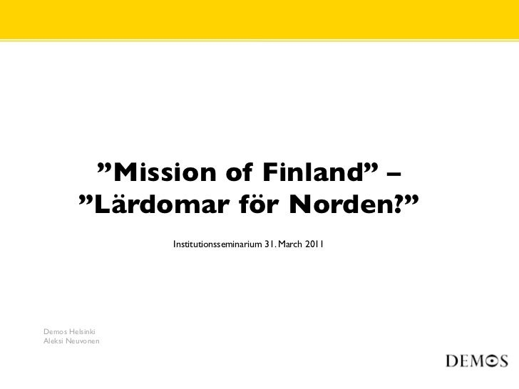 Mission for finland 310311