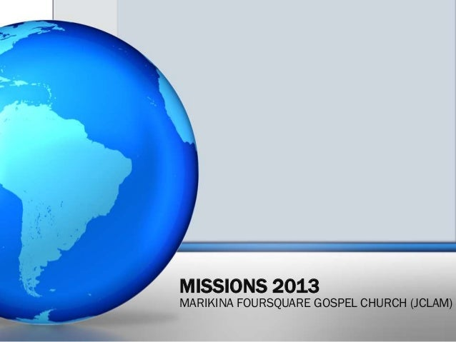 Missions 2013