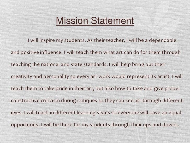 mission statement my inspirations 4 mission statement