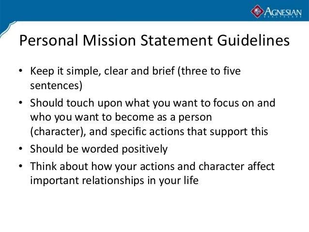creating a personal mission statement
