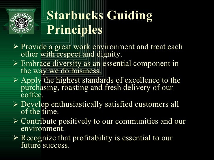 starbucks vision statement Starbucks coo: philadelphia arrest video 'alarming,' but not hurting  stem from  this incident to repair and reaffirm our values and vision for the.