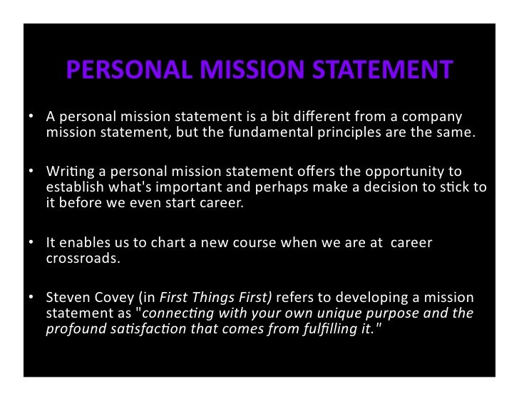 define personal vision statement The purpose of a career vision statement is to give you a clear and inspiring direction for the future find free what is your work personality type to touch the lives of as many people as possible — millions and millions — empowering them to achieve personal and career happiness and success &nbsp.