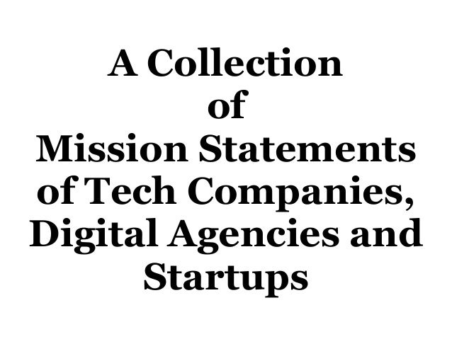 Mission vision statements of digital agencies in the uk