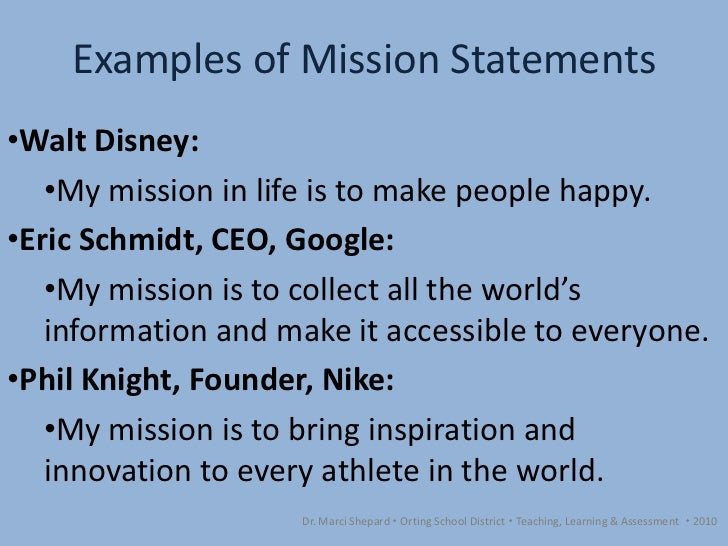 Walt disney company vision statement