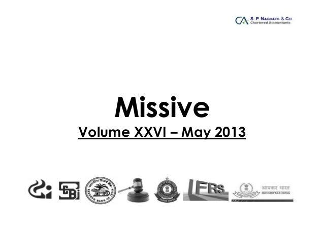 Missive - Volume XXVI of May 2013