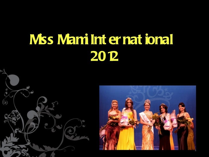 MISS MIAMI INTERNATIONAL 2012