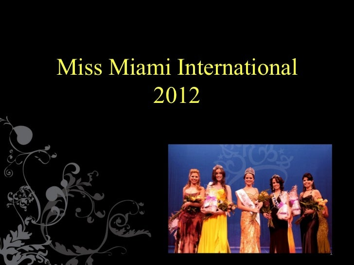 Miss Miami International 2012