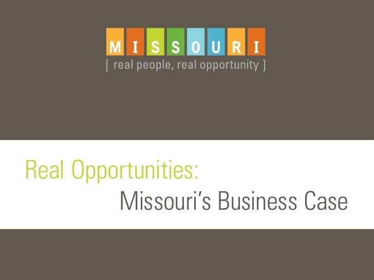 Missouri's Business Case