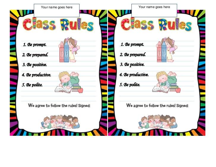 Classroom Rules - Lessons - Tes Teach