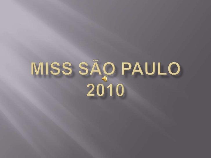 Miss São Paulo2010<br />