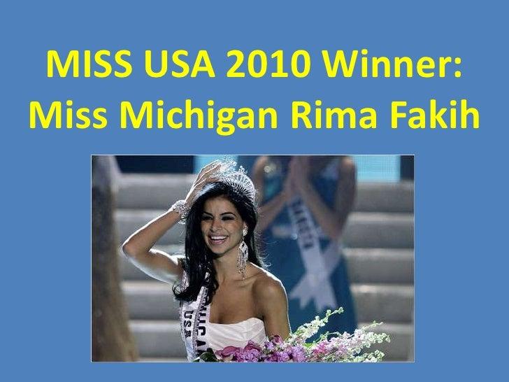 MISS USA 2010 Winner: Miss Michigan Rima Fakih