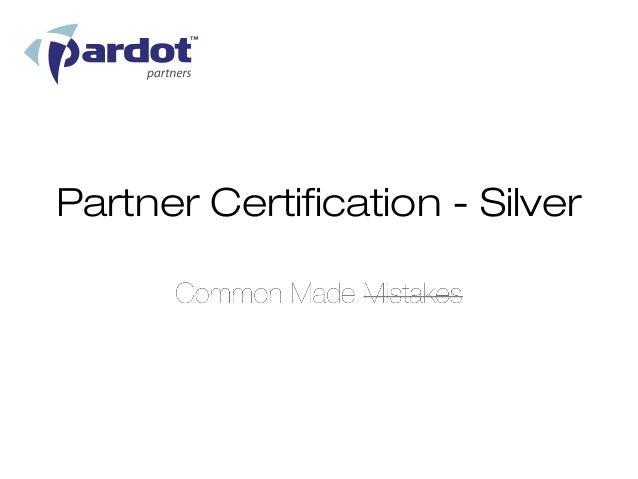 Partner Certification - Silver