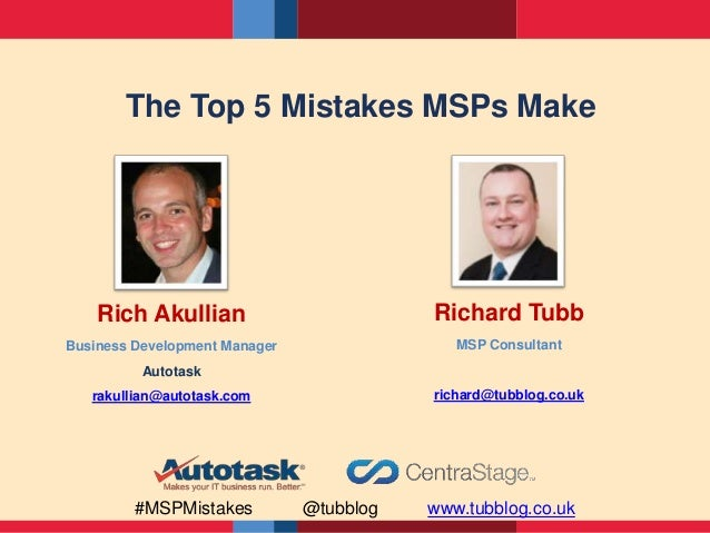Top 5 Mistakes MSPs Make