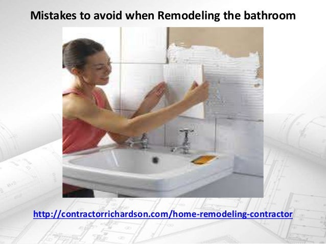 Mistakes to avoid when remodeling the bathroom for 5 bathroom mistakes