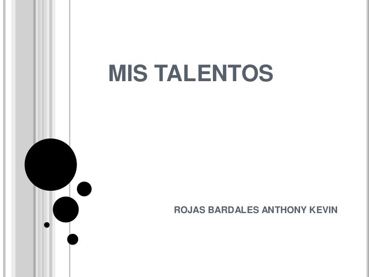 Mis talentos