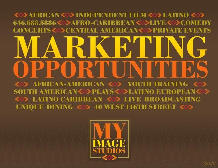 My Image Studios Marketing Opportunities Intro