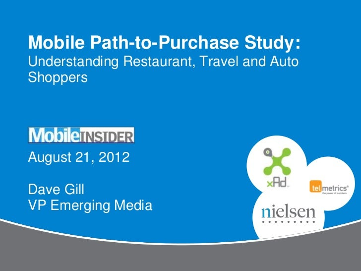 Mobile Path-to-Purchase Study:Understanding Restaurant, Travel and AutoShoppersAugust 21, 2012Dave GillVP Emerging Media
