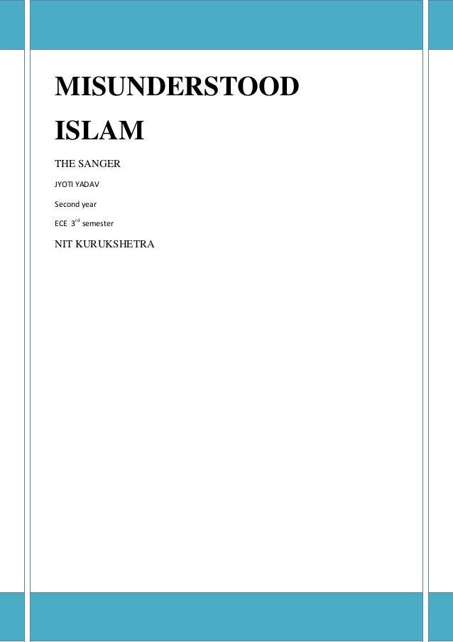 Misunderstood ISLAM
