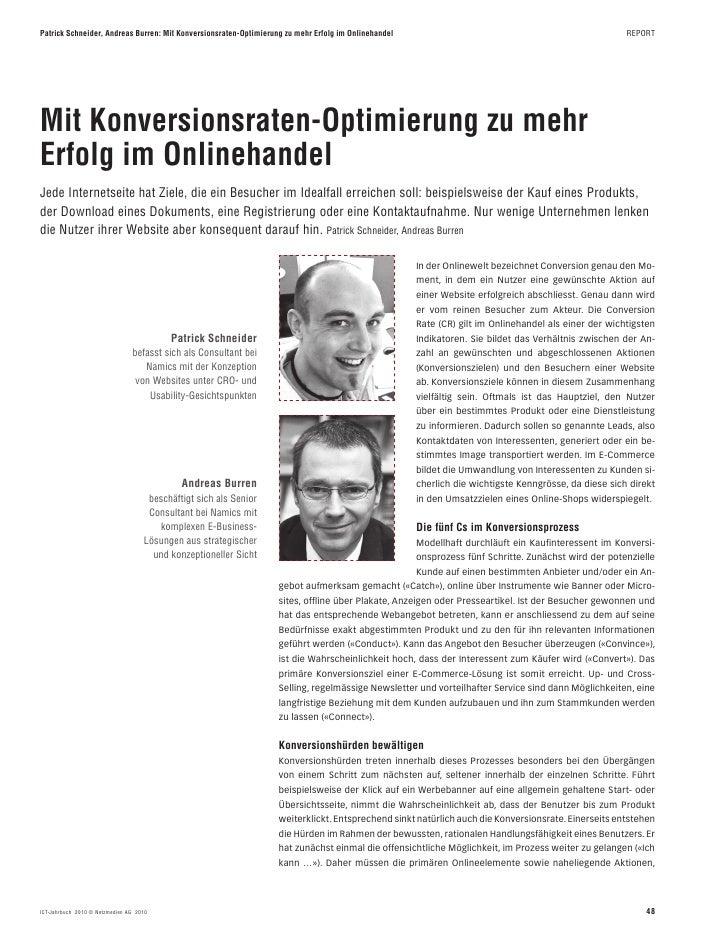 Patrick Schneider, Andreas Burren: Mit Konversionsraten-Optimierung zu mehr Erfolg im Onlinehandel                        ...