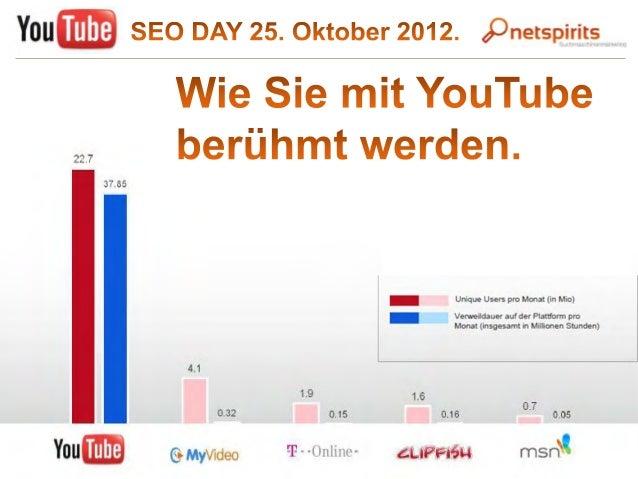 Mit Youtube berühmt werden - SEO DAY Präsentation YouTube